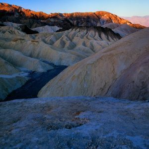 Morning Light on Zabriskie Point, Death valley, CA