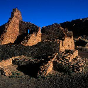 Pueblo Bonito Southeast Walls, Chaco Canyon, NM