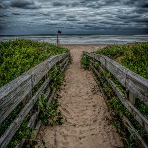 Sandy Walkway to the Beach, Padre Island, Texas #2 clarified 2