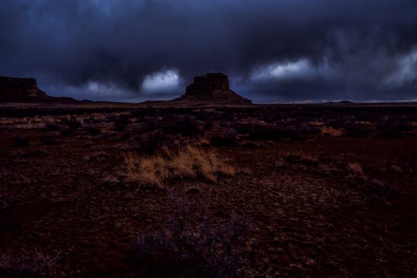 Imminent Storm Over Fajada Butte, Chaco Canyon, NM