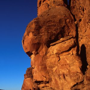 Monolith in Morning Light, Chaco Canyon, NM