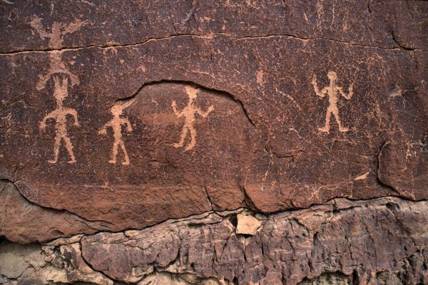 Petroglyphs Near Casa Chiquita 3 , Chaco Canyon, NM