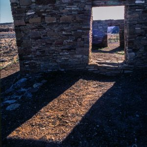 Casa Rinconada Doorway Sunlight 2, Chaco Canyon, NM