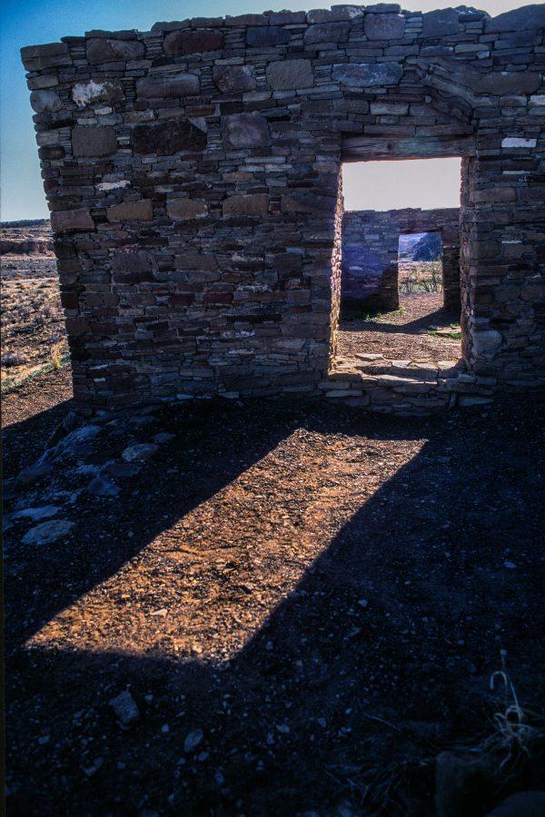 Casa Rinconada Doorway Sunlight 2, Chaco Canyon, NM