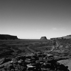 Clear Sky Over Fajada Butte 2, Chaco Canyon, NM