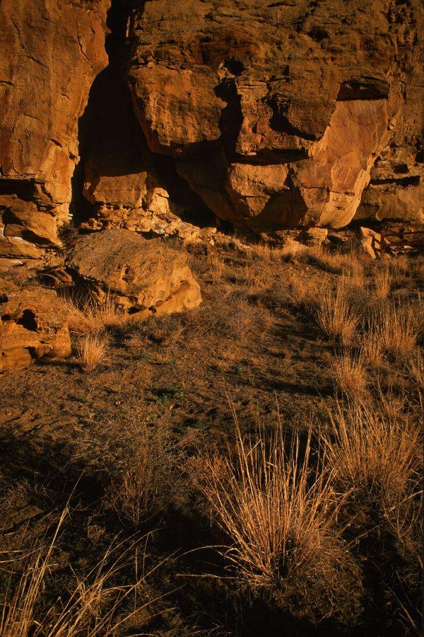 Cliff Base at Gallo Ruin, Chaco Canyon, NM