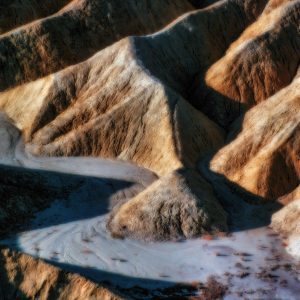 Dry Water Flow, Zabriskie Point, Death Valley, CA