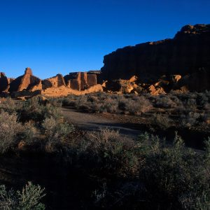 Early Morning Light On Pueblo Bonito, Chaco Canyon, NM