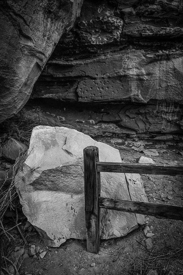 Gallo Ruin Fence Railing 2, Chaco Canyon, NM