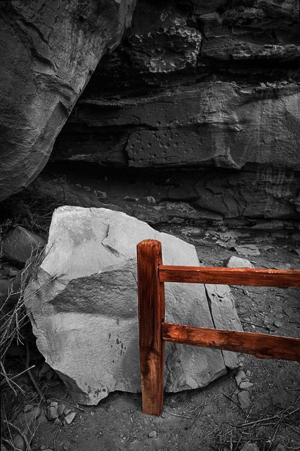 Gallo Ruin Fence Railing 3, Chaco Canyon, NM