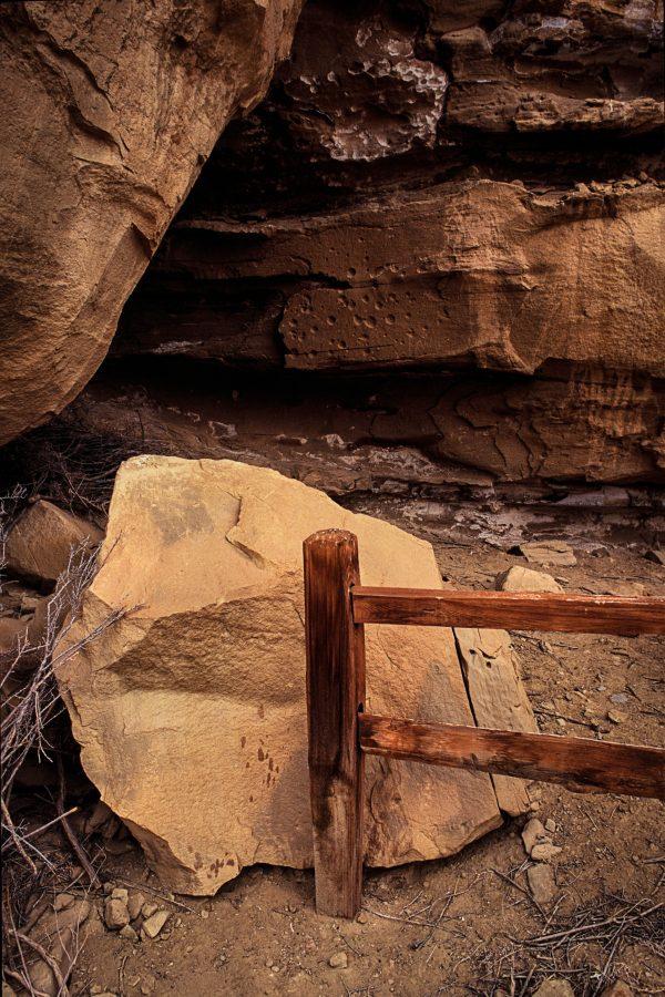 Gallo Ruin Fence Railing, Chaco Canyon, NM