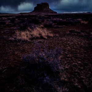 Imminent Storm Over Fajada Butte 2, Chaco Canyon, NM