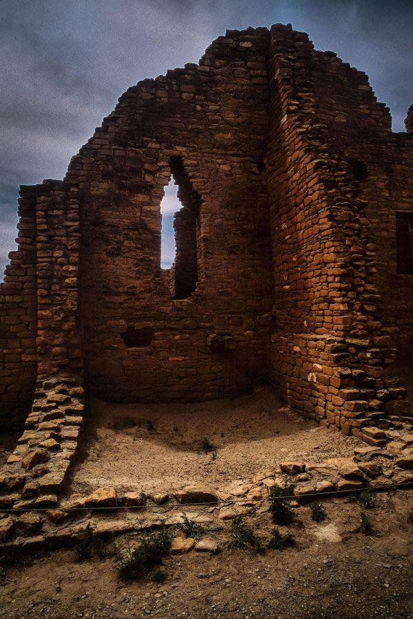 Kin Kletso Great House Window 3, Chaco Canyon, NM