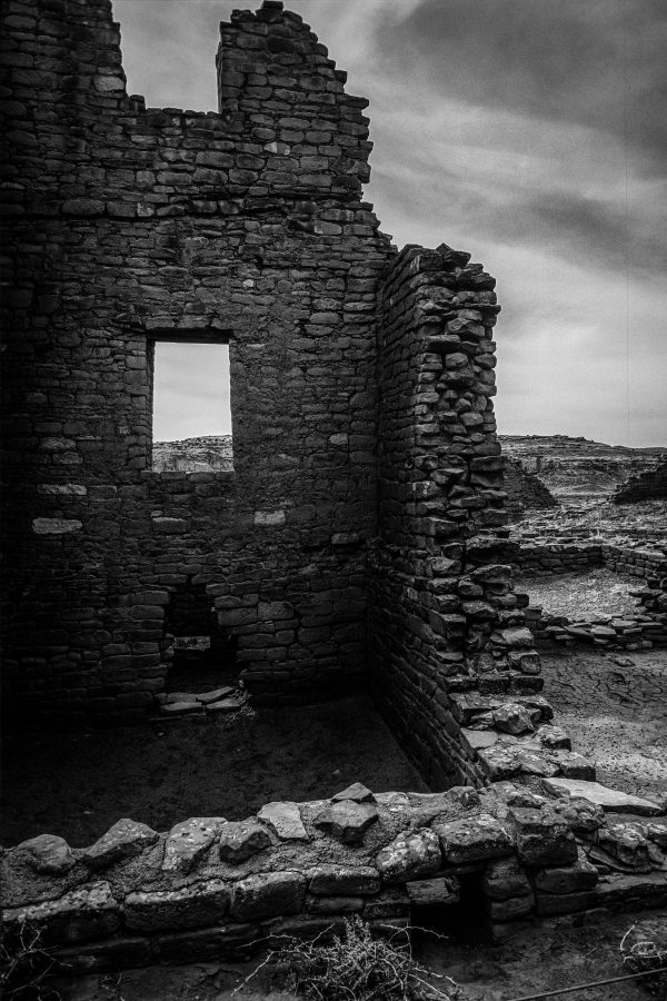 Kin Kletso Great House Window, Chaco Canyon, NM
