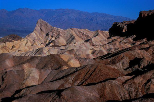 Manly Beacon From Zabriskie Point, Death Valley, CA