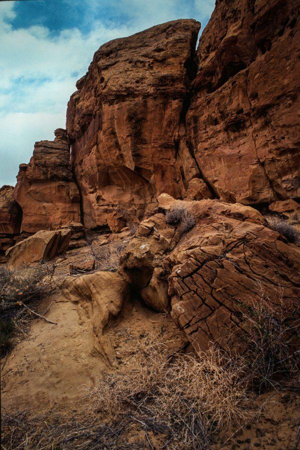 Mesa Wall at Gallo 2, Chaco Canyon, NM