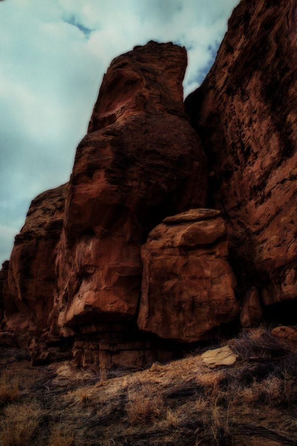 Mesa Wall at Gallo, Chaco Canyon, NM