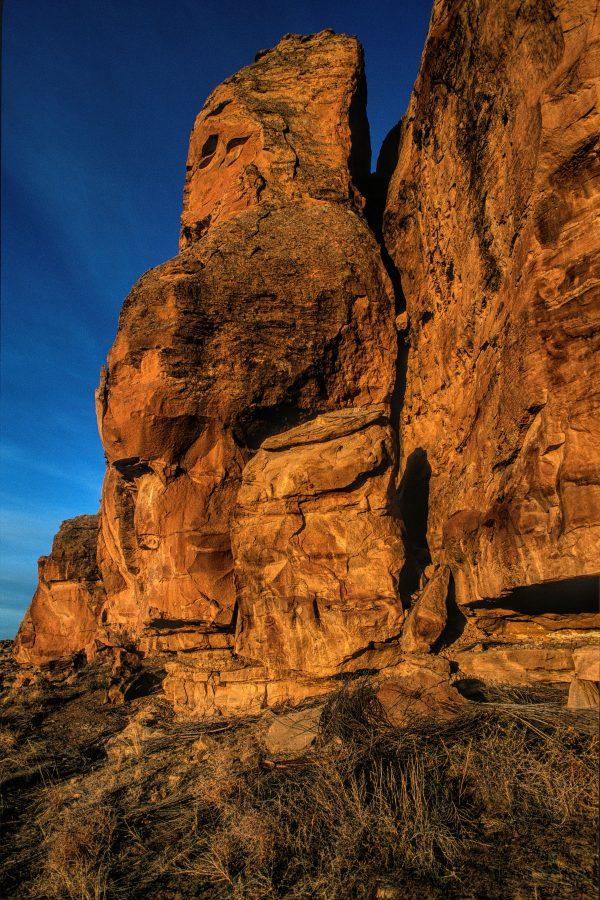 North Mesa Cliff Face at Gallo, Chaco Canyon, NM