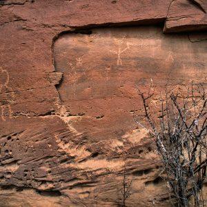 Petroglyphs Near Casa Chiquita 2 , Chaco Canyon, NM