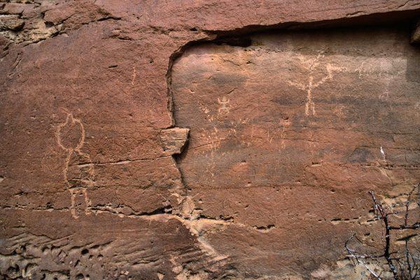 Petroglyphs Near Casa Chiquita , Chaco Canyon, NM