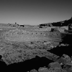 Photographing Pueblo Bonito 2 , Chaco Canyon, NM