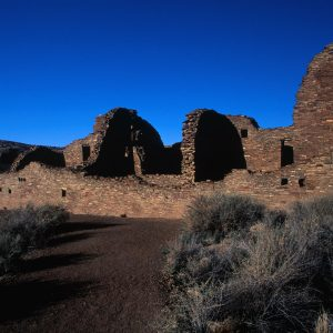 Pueblo Bonito East Wall, Chaco Canyon, NM
