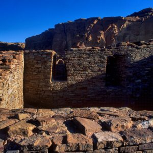 Pueblo Bonito South Room and Cliffs, Chaco Canyon, NM