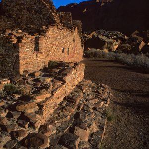 Pueblo Bonito Southeast Corner, Chaco Canyon, NM