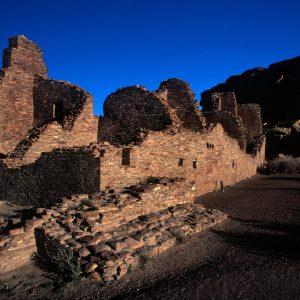Pueblo Bonito Southeast Walls 2, Chaco Canyon, NM