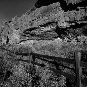 Rail Fence at Gallo Ruin 2, Chaco Canyon, NM