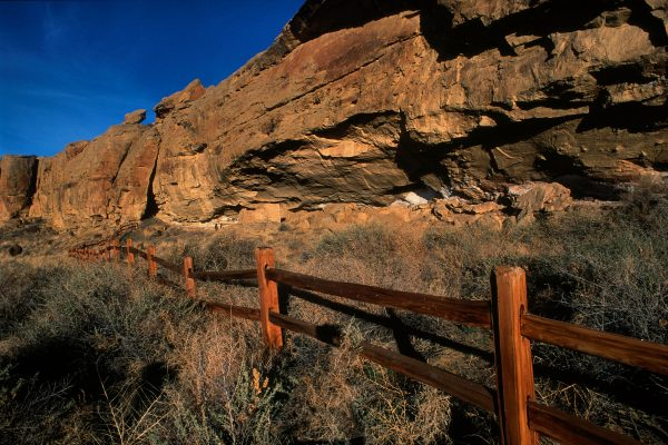 Rail Fence at Gallo Ruin, Chaco Canyon, NM