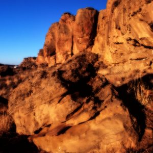 Rocks in Morning Light, Chaco Canyon, NM