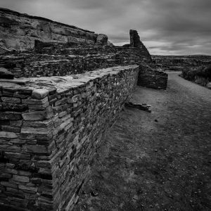 South Wall of Pueblo Bonito, Chaco Canyon, NM