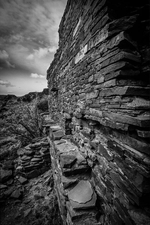Stonework of Hungo Pavi 2, Chaco Canyon, NM