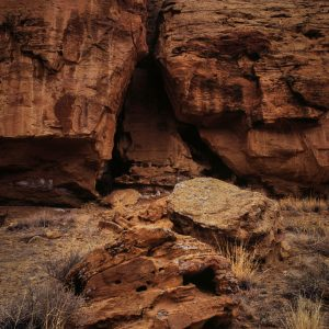 Triangular Opening in Mesa Wall, Chaco Canyon, NM