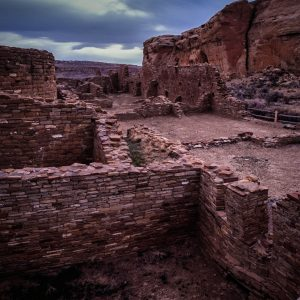 View of Chetro Ketl, Chaco Canyon, NM