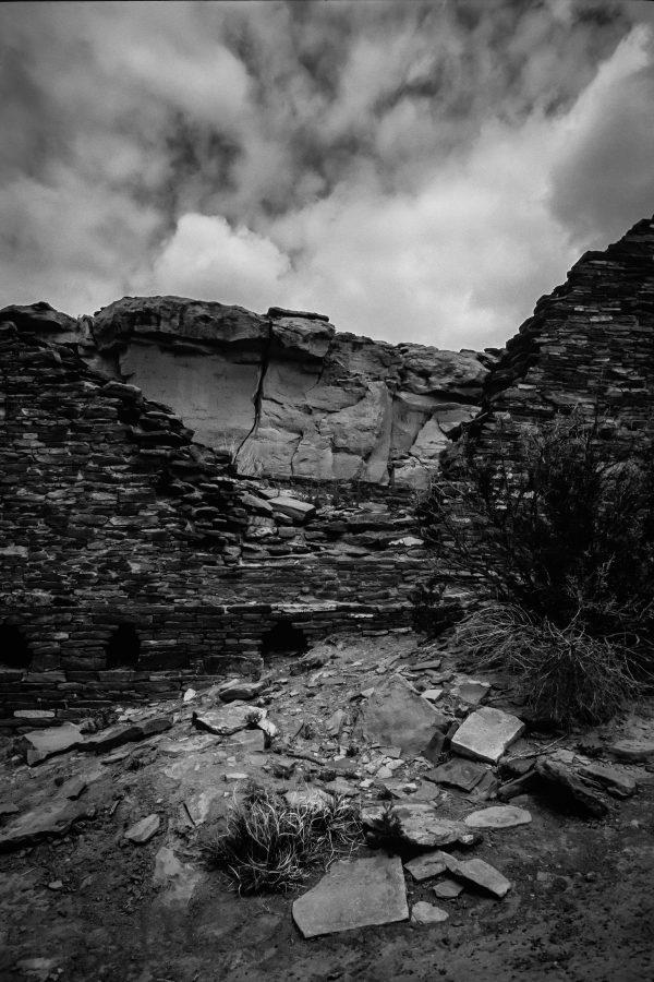 View of North Mesa Through Hungo Pavi, Chaco Canyon, NM