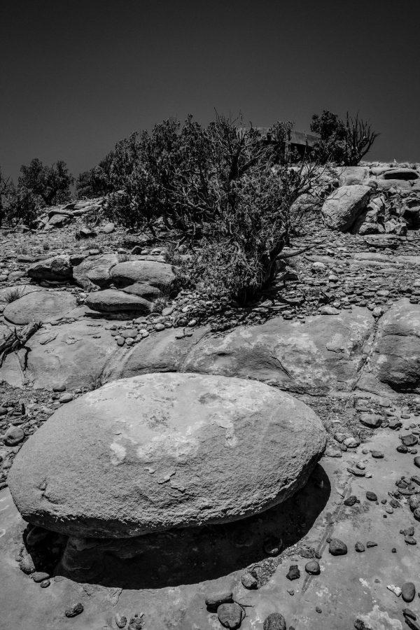 Boulder, Juniper, and House, Abiquiu, New Mexico