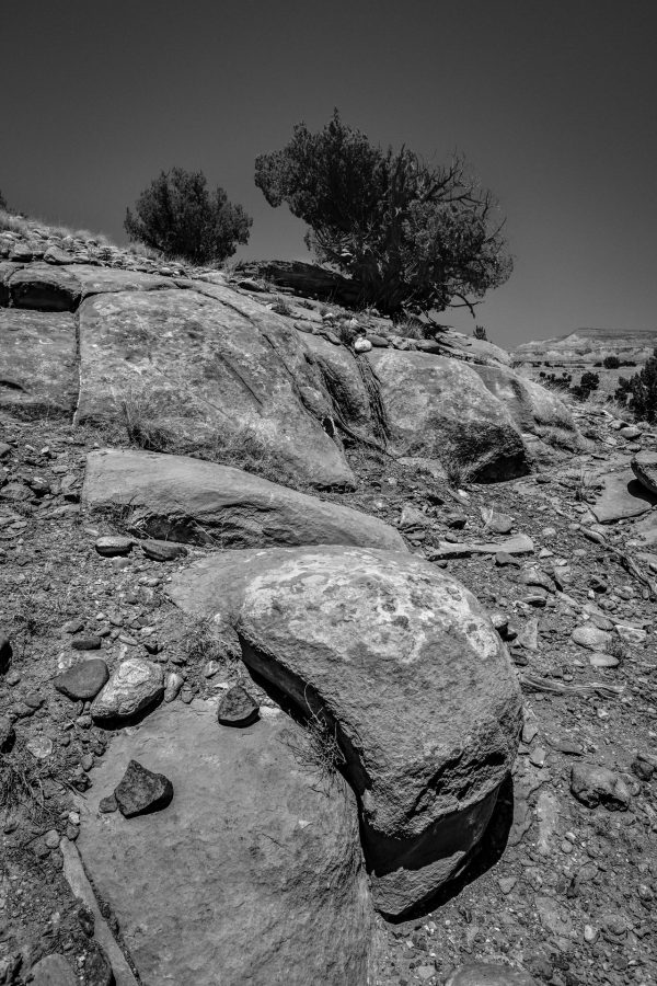 Hillside Boulders and Junipers 2, Abiquiu, New Mexico