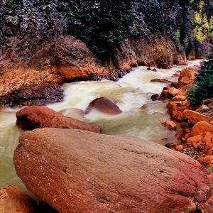 Canyon Creek Boulder, Ouray, Colorado
