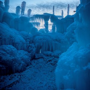 Evening Sky Over Ice Castle, Midway, Utah
