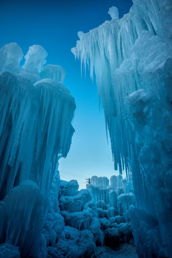 From Within the Ice Castle, Midway, Utah_