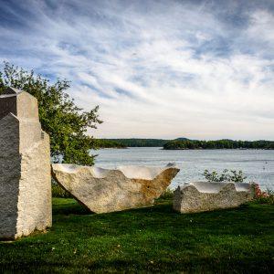 Granite Sculptures, Castine, Maine