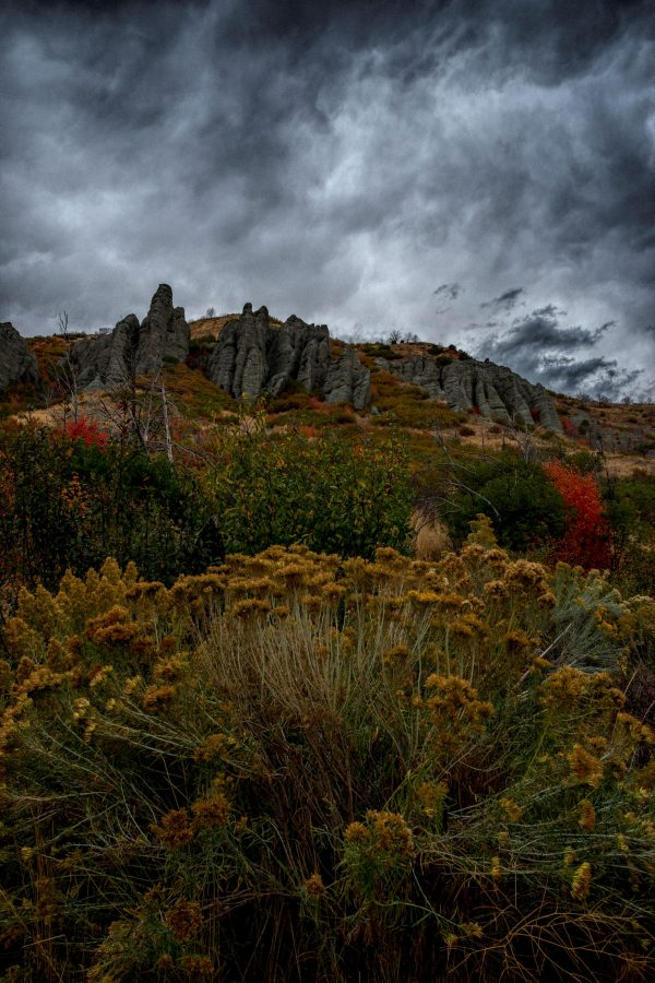 Gray Limestone Cliffs, Santaquin, Utah