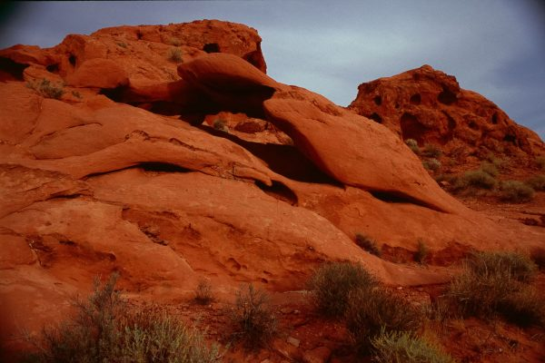 Hollowed Rocks Formation, Valley of Fire, Nevada