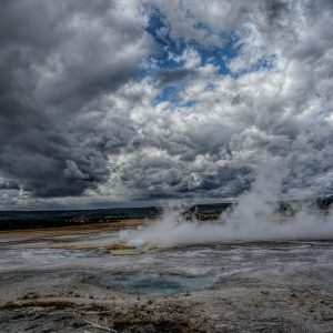 Hot Spring and Caldera 3, Yellowstone National Park, Wyoming
