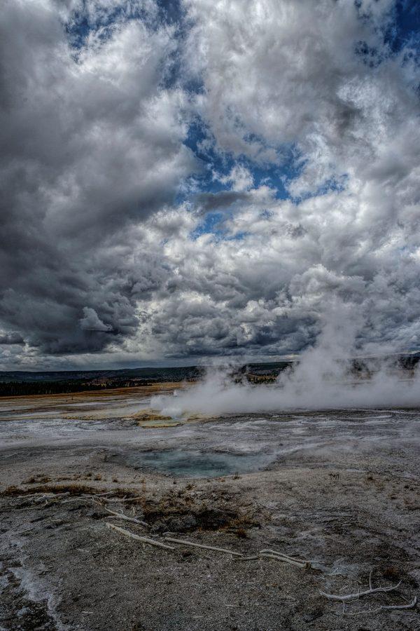 Hot Spring and Caldera 3, Yellowstone National Park, Wyoming
