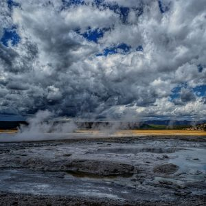 Hot Spring and Caldera, Yellowstone National Park, Wyoming