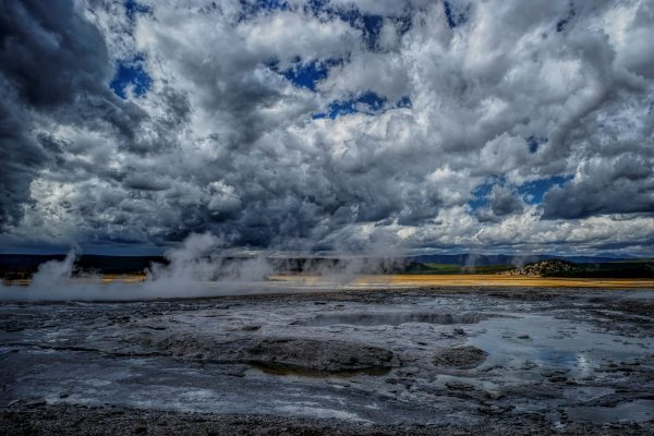 Hot Spring and Caldera, Yellowstone National Park, Wyoming