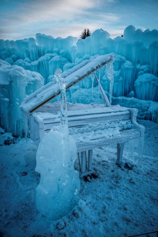Ice Castle Cello and Piano, Midway, Utah